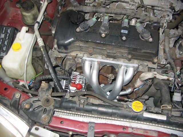 2001 Nissan Sentra O2 Sensor - With Everything Back Installed Be Sure To Shear Off The Bolt Holding The Coolant Tank On And Replace It With Some Nissan Approved Zip Ties - 2001 Nissan Sentra O2 Sensor
