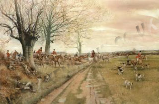 Kenneth Wynn hunting scene