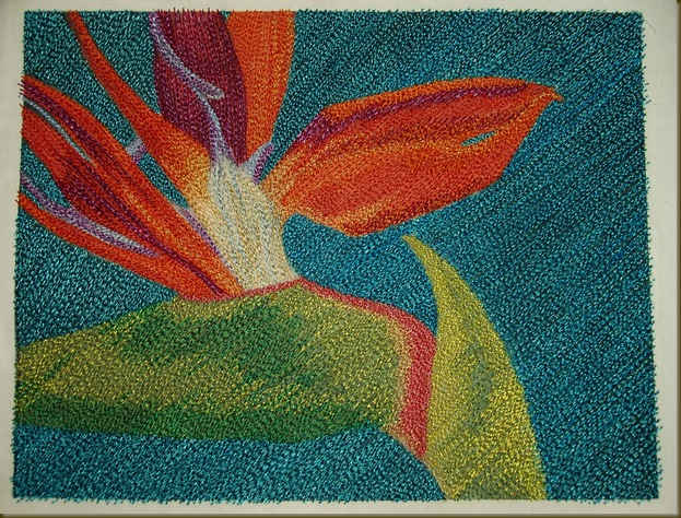 bird of paradise embroidery 1