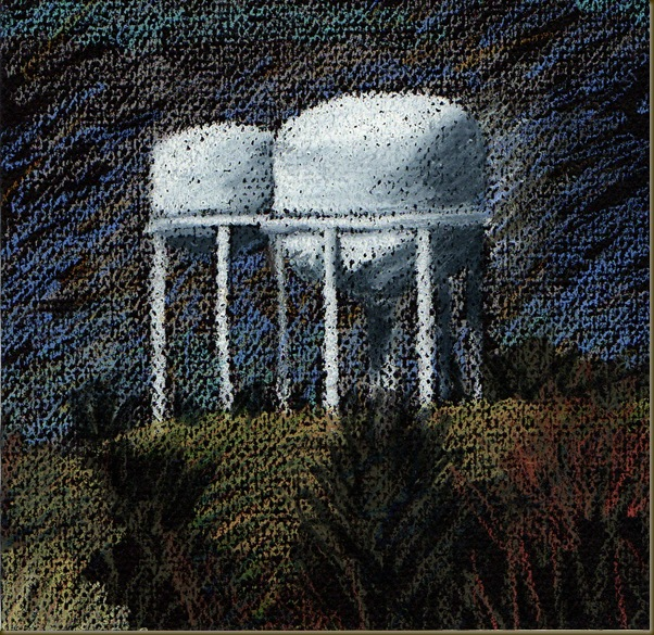 water tower drawing one