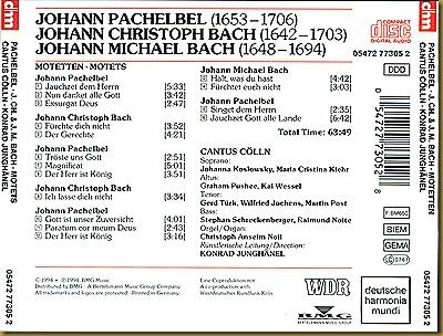 Pachelbel, Johann - Motets back