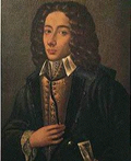 Alleged portrait of Pergolesi presented by his biographer Florimo to the Naples Conservatory