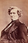 Crop of a cabinet card photo of Hector Berlioz by Franck, Paris, ca. 1855