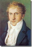 Self-portrait of Spohr as a young man.