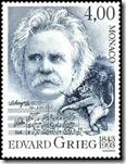 Edvard Grieg on stamp