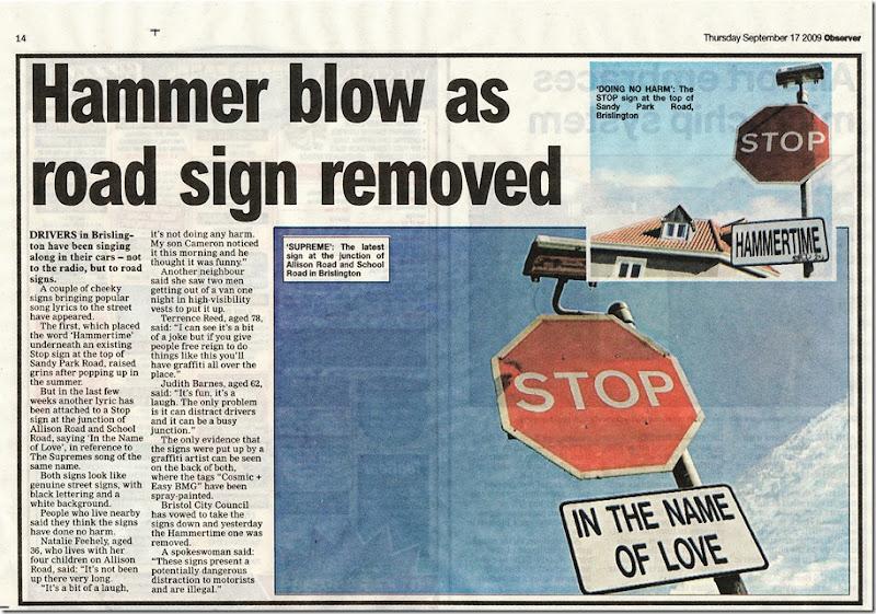Stopped…. Hammertime