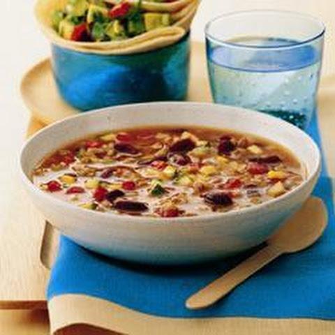 Turkey Chilli Soup With Salsa