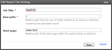 Creating a reports tab for StatSVN