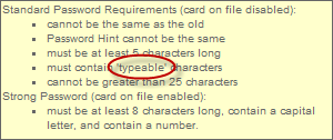 GoDaddy only allowing typeable password