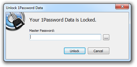 Entering the master password to save credentials in 1Password