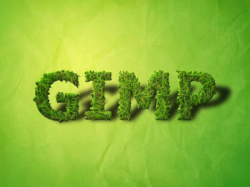 Grass Text Wallpaper