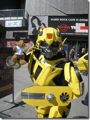 Moosey Moose and Bumblebee from Transformers