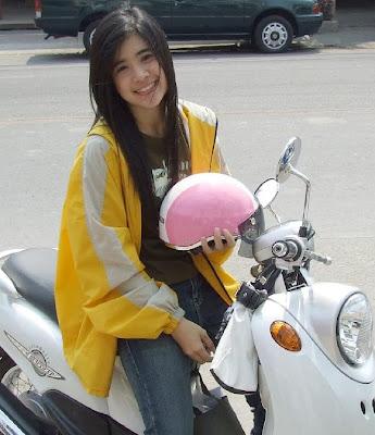 Cute Biker Girl