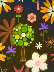brown peace fabric