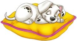 Disney-101-Dalmation-sleeping-pillow
