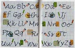 abecedarios punto de cruz. (260)