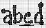 abecedarios punto de cruz. (186)
