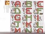 abecedarios punto de cruz. (698)