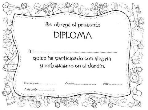 Para colorear diplomas graduación y graduados - Jugar y colorear