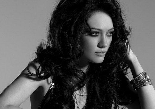 Hilary Duff Black White Photoshoot