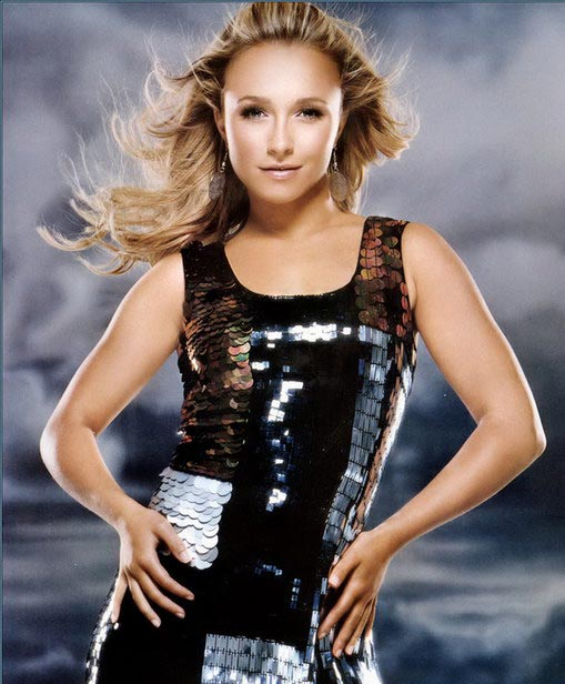 Celebrity Hayden Panettiere long blonde hairstyle