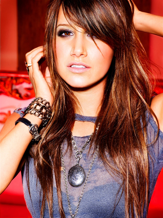 Ashley Tisdale   hairstyles with bangs 2010