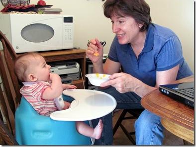 Elaine 20 Weeks Oatmeal with Grandma Godby