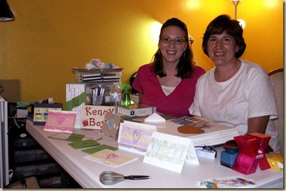 Mom & Andrea Scrapbooking