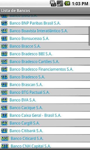 Lista de Bancos