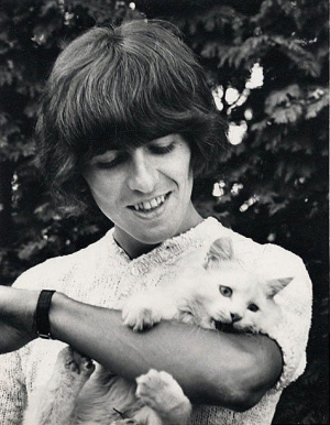 George Harrison celebrity and cat