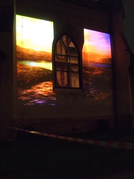 Stadskyrkan som det visades bilder på från en projektor.....