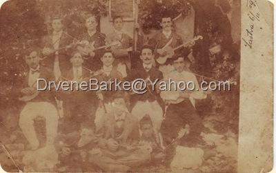 Tamburaški zbor iz Gornje Lastve 1912 godine