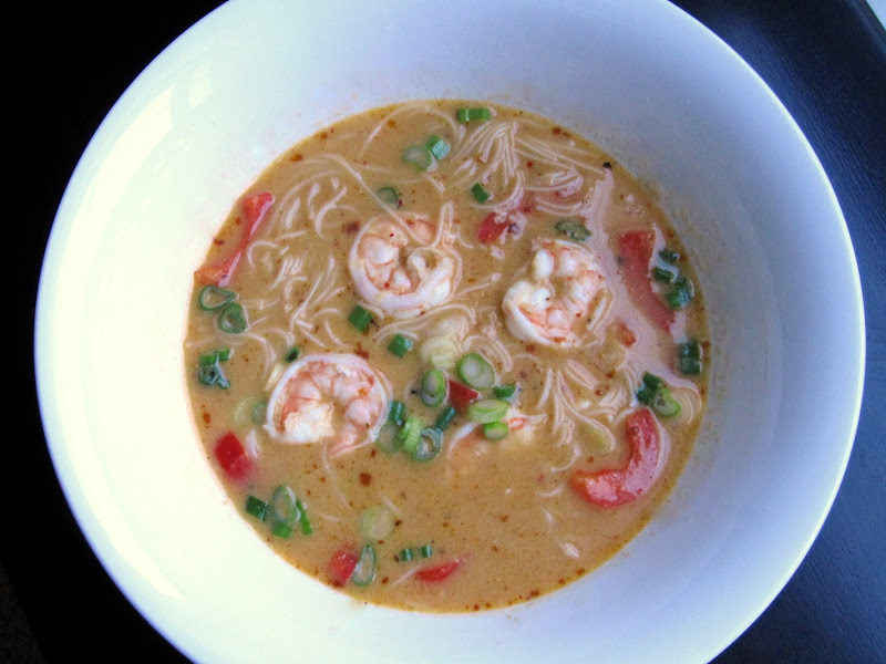 thai red curry shrimp soup