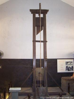 The Hoa Lo Prison (Hanoi Hilton) guillotine