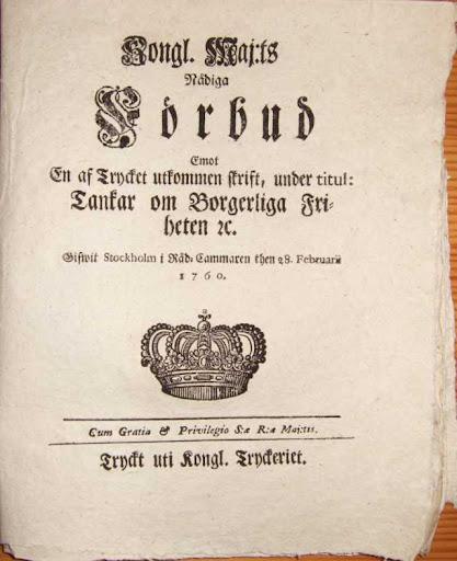 Proclamation banning publication