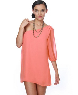 Sunup-One-Shoulder-Coral-Dress