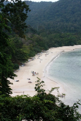 Langkawi beach at the Andaman Resort in Malaysia