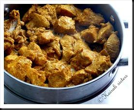 Steamed chicken after marination