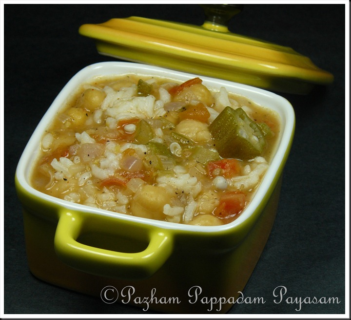 Okra and chickpea gumbo