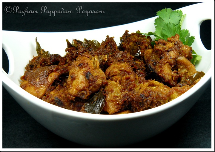 Chicken roast Kerala style
