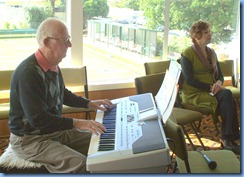Peter Jackson, member of the NSOKC and Vice President of the Hibiscus Organ and Keyboard Club, playing the Korg Pa1X