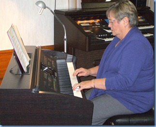 Barbara McNab making good use of the built-in arranger and playing with the added feature of a full orchestra! Good stuff Barbara.