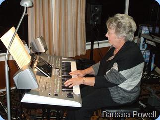 Barbara Powell playing her Yamaha Tyros 3