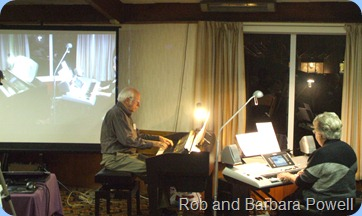 Rob and Barbara Powell duetting