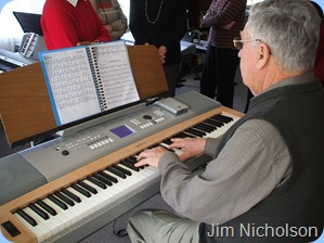 Jim Nicholson playing Colin Crann's Yamaha DGX-620 digital ensemble piano