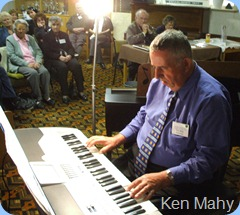 Committee Member, Ken Mahy, played four songs on his Korga Pa1X for us.