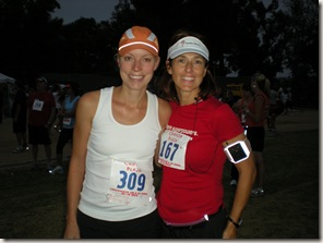 Marci and Lisa before the early race