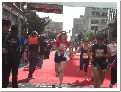 Shannon's finish Rock 'n Roll Half Marathon