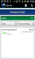 Screenshot of mDroid: Money Manager
