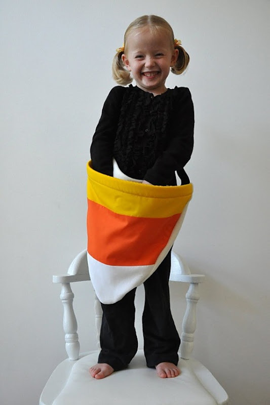 sewing tote for halloween: candy corn trick or treat bag